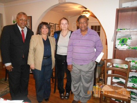Pictured (left to right): Dalton Savwoir, Brenda Nolan, Betty Muller, and Victor Gordon. Not Pictured: Sidney Cates, V